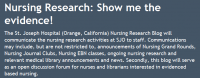 Nursing Research: Show me the evidence!